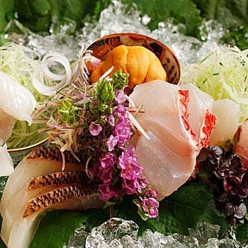 【月コース】季節の盛り合わせ、お造り、焼物含む、旬の食材をお愉しみ頂けるコース