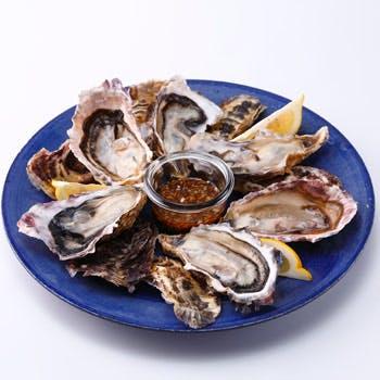 【17時スタート15%OFF!】飲放付!生牡蠣やお肉盛り合わせ、魚介パエリアが楽しめる全9品オイスターコース