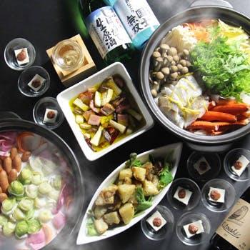 【期間限定】今冬リリースの日本酒やワインなど90分飲み放題付!70種類以上のブッフェと共にどうぞ