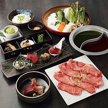 神戸牛の赤身【しゃぶしゃぶ会席〜楓〜かえで】肉八寸や神戸牛の赤身を使用したしゃぶしゃぶ会席
