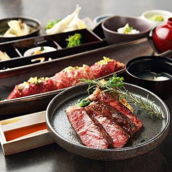 神戸牛の赤身【ステーキ会席〜楓〜かえで】肉八寸や神戸牛の赤身を使用したステーキがメインの会席