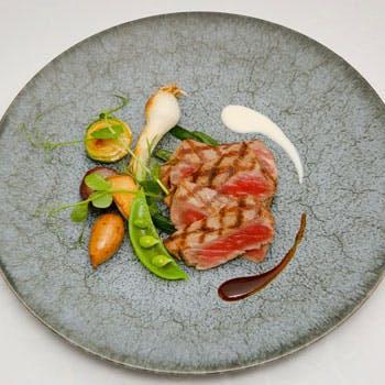 【乾杯スパークリング付】牛フィレ肉料理&瀬戸内のお魚料理、パスタorピザorスープ、デザートなど全6品