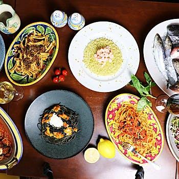 【シェフおすすめコースB】前菜・パスタ2品・メインなど人気メニューをお愉しみ頂ける全5品