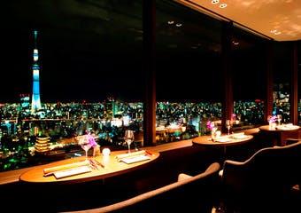 THE DINING シノワ 唐紅花&鉄板フレンチ 蒔絵 浅草ビューホテル27F image