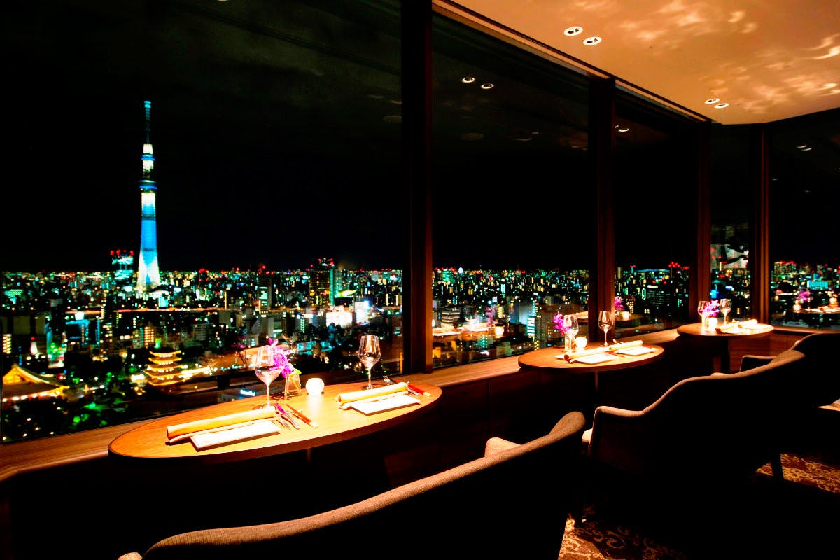 THE DINING シノワ 唐紅花&鉄板フレンチ 蒔絵/浅草ビューホテル27F